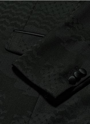 - NEIL BARRETT - 几何叶纹暗花混羊毛礼服外套