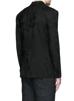 背面 - 点击放大 - NEIL BARRETT - 几何叶纹暗花混羊毛礼服外套