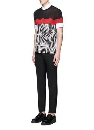 模特儿示范图 - 点击放大 - NEIL BARRETT - 中袖纯棉衬衫