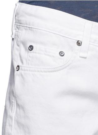 细节 - 点击放大 - RAG & BONE/JEAN - 须边混棉牛仔短裤