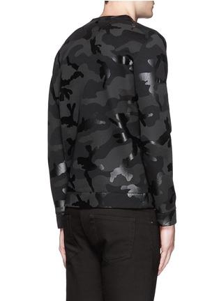 背面 - 点击放大 - Valentino - 涂层迷彩太空棉卫衣