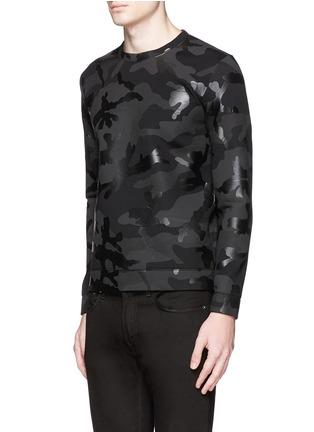 正面 -点击放大 - VALENTINO - 涂层迷彩太空棉卫衣