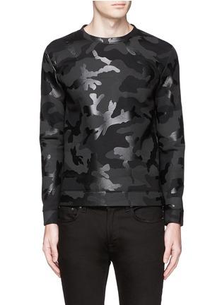 首图 - 点击放大 - VALENTINO - 涂层迷彩太空棉卫衣