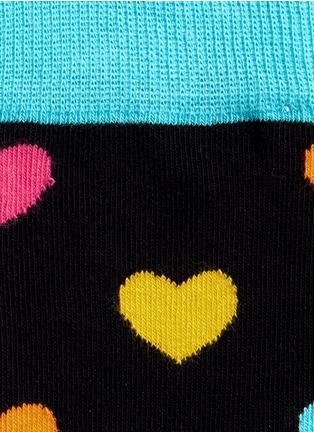 细节 - 点击放大 - Happy Socks - 多彩心形图案袜子