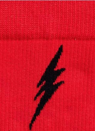 细节 - 点击放大 - HAPPY SOCKS - 条纹闪电图案袜子