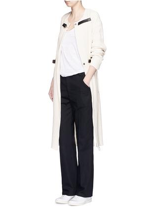 模特示范图 - 点击放大 - ISABEL MARANT ÉTOILE - 纯棉斜纹布长裤