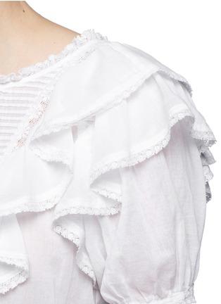 细节 - 点击放大 - ISABEL MARANT ÉTOILE - 百褶荷叶边修腰上衣