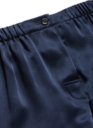 细节 - 点击放大 - ARAKS - Tia单色真丝短裤