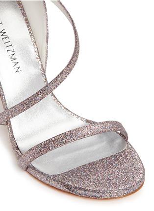 细节 - 点击放大 - STUART WEITZMAN - SULTRY不对称搭带闪粉高跟凉鞋