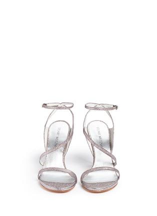正面 - 点击放大 - STUART WEITZMAN - SULTRY不对称搭带闪粉高跟凉鞋