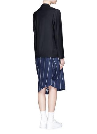 背面 - 点击放大 - FFIXXED STUDIOS - 条纹带装饰混羊毛西服外套