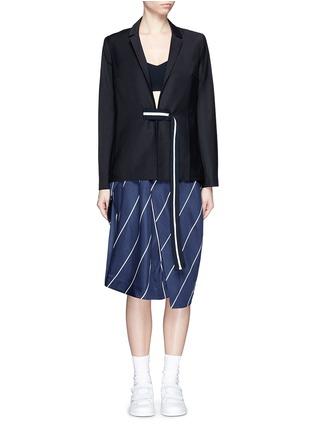 首图 - 点击放大 - FFIXXED STUDIOS - 条纹带装饰混羊毛西服外套