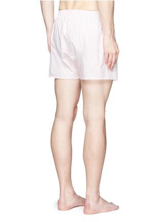 背面 - 点击放大 - SUNSPEL - 花卉图案纯棉平脚内裤