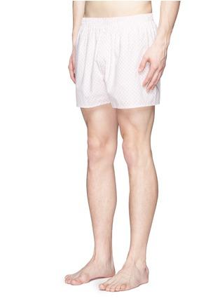 模特儿示范图 - 点击放大 - SUNSPEL - 花卉图案纯棉平脚内裤