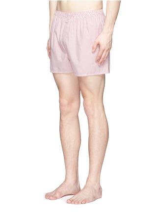 模特儿示范图 - 点击放大 - SUNSPEL - 细竖纹纯棉平脚内裤