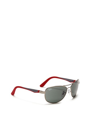 模特儿示范图 - 点击放大 - RAY-BAN - Curve aviator junior sunglasses