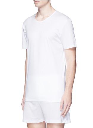 模特儿示范图 - 点击放大 - ZIMMERLI - 286 Sea Island海岛棉T恤