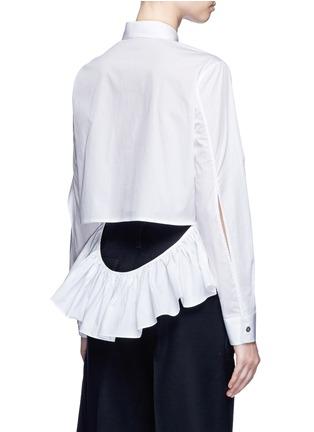 背面 - 点击放大 - ANAÏS JOURDEN - 荷叶边镂空纯棉衬衫