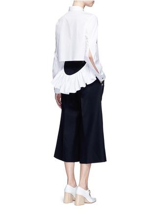 模特儿示范图 - 点击放大 - ANAÏS JOURDEN - 荷叶边镂空纯棉衬衫