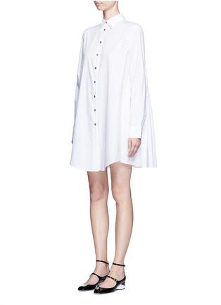 正面 - 点击放大 - JOURDEN - 碎褶拼接纯棉衬衫裙