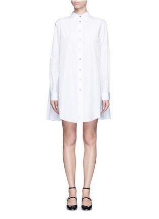 首图 - 点击放大 - JOURDEN - 碎褶拼接纯棉衬衫裙