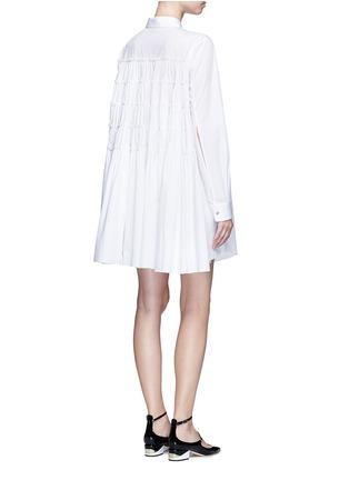 模特示范图 - 点击放大 - JOURDEN - 碎褶拼接纯棉衬衫裙