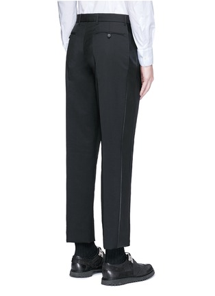 背面 - 点击放大 - Valentino - 条纹拼接羊毛混马海毛及踝裤