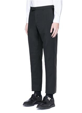 正面 -点击放大 - VALENTINO - 条纹拼接羊毛混马海毛及踝裤