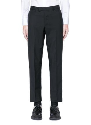 首图 - 点击放大 - Valentino - 条纹拼接羊毛混马海毛及踝裤