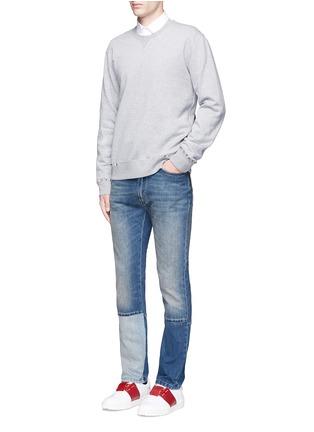 模特儿示范图 - 点击放大 - Valentino - 铆钉装饰混棉卫衣