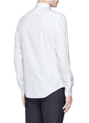 背面 - 点击放大 - Valentino - 条纹拼贴铆钉纯棉衬衫