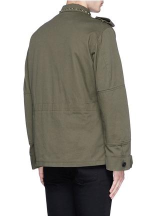 背面 - 点击放大 - VALENTINO - 铆钉装饰纯棉军装夹克