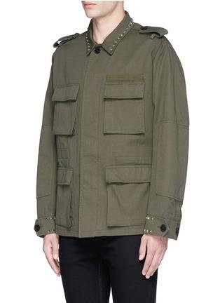正面 -点击放大 - VALENTINO - 铆钉装饰纯棉军装夹克