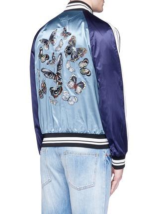 背面 - 点击放大 - VALENTINO - 蝴蝶刺绣缎面棒球夹克
