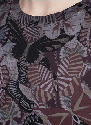 细节 - 点击放大 - VALENTINO - 蝴蝶印花纯棉T恤