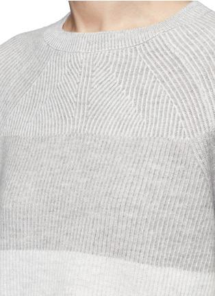 细节 - 点击放大 - Vince - 拼色羊毛混羊绒针织衫