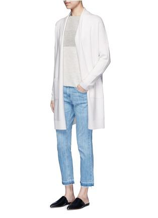 模特示范图 - 点击放大 - Vince - 拼色羊毛混羊绒针织衫