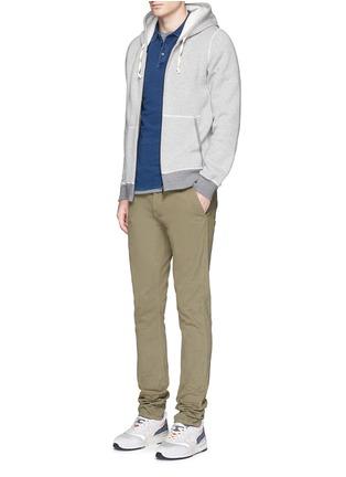 模特儿示范图 - 点击放大 - DENHAM - JOEY插肩袖纯棉POLO衫