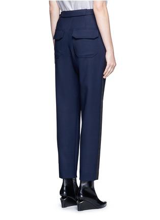 背面 - 点击放大 - BALENCIAGA - 缎面条带装饰混羊毛八分裤