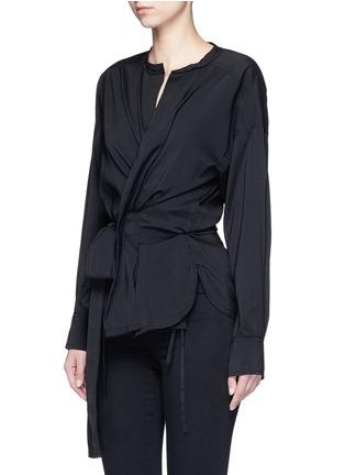 正面 -点击放大 - ISABEL MARANT - DORCEY包裹式混丝上衣
