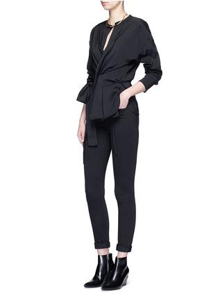 模特儿示范图 - 点击放大 - ISABEL MARANT - DORCEY包裹式混丝上衣