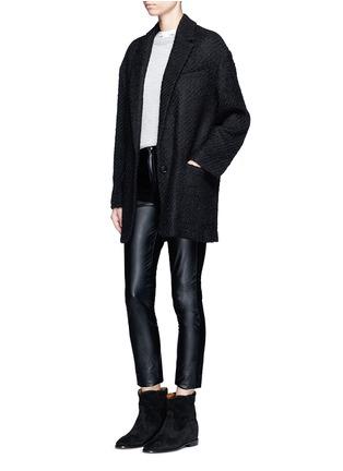 模特示范图 - 点击放大 - ISABEL MARANT  - Ilaria混羊毛粗花呢大衣