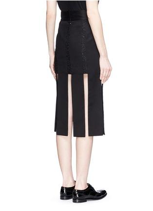 背面 - 点击放大 - JINNNN - 单色拼接纯棉半身裙