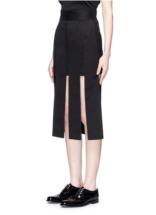 正面 -点击放大 - JINNNN - 单色拼接纯棉半身裙