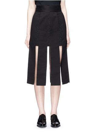 首图 - 点击放大 - JINNNN - 单色拼接纯棉半身裙