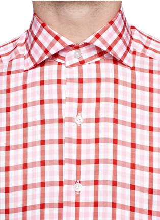 细节 - 点击放大 - TOMORROWLAND - Contrast gingham check cotton shirt