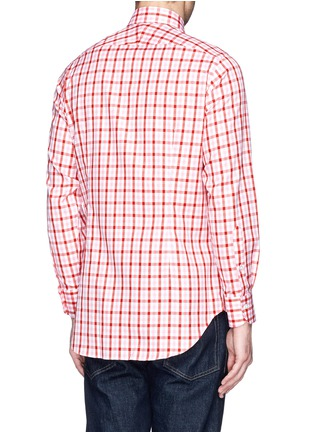 背面 - 点击放大 - TOMORROWLAND - Contrast gingham check cotton shirt