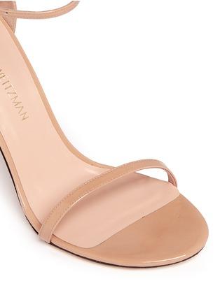 细节 - 点击放大 - STUART WEITZMAN - Nudistsong漆皮高跟凉鞋
