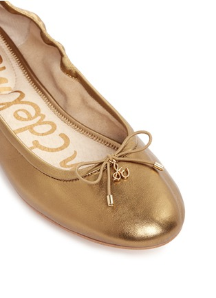 细节 - 点击放大 - SAM EDELMAN - Felicia' metallic leather ballet flats