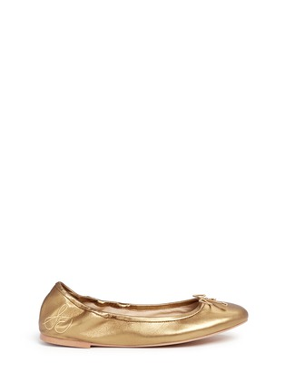 首图 - 点击放大 - SAM EDELMAN - Felicia' metallic leather ballet flats